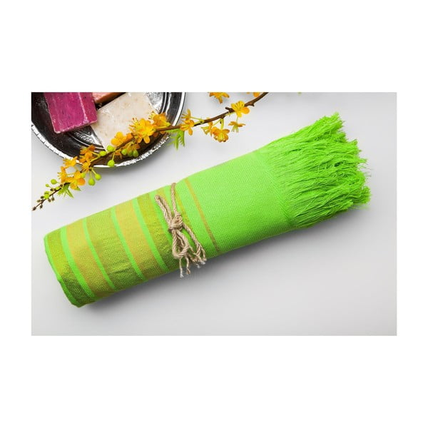 Hamam osuška Cotton Loincloth Green One, 75x170 cm