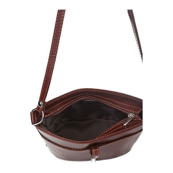 Hnědá kožená kabelka Markese Severina