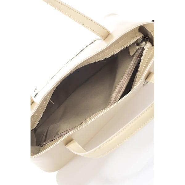 Béžová kožená kabelka Markese Nessie