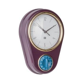Ceas și cronometru pentru bucătărie PT LIVING, violet închis de la PT LIVING