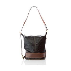 Černo-hnědá kožená kabelka / batoh Glorious Black Francy