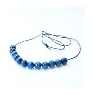 Tmavě modrý dřevěný dlouhý náhrdelník Ko-ra-le Long