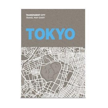Jurnal pentru notițe pe hartă Palomar Transparent City Tokyo