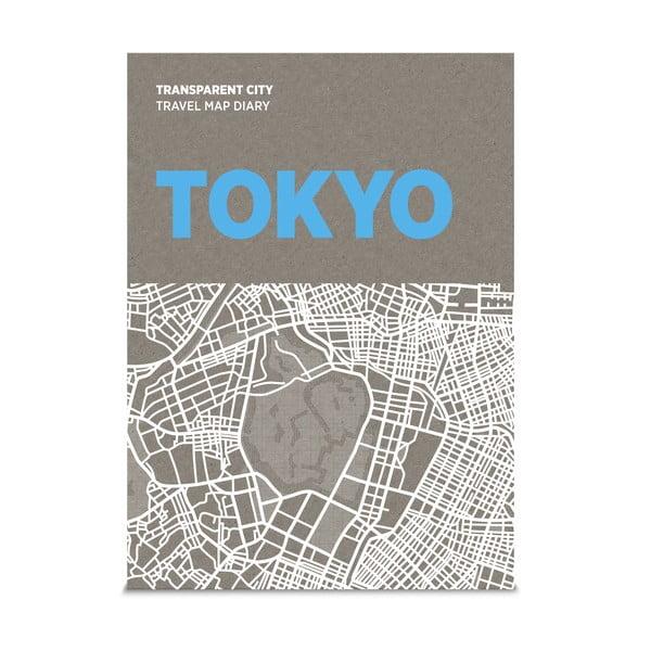 Mapa z kartkami na notatki Palomar Transparent City Tokio