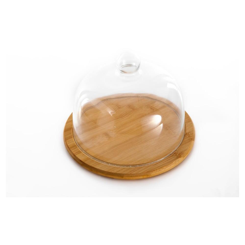 Bambusové prkénko se skleněným poklopem Bambum Focus