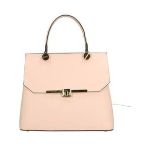 Pudrově růžová kožená kabelka Roberto Buono Fiona