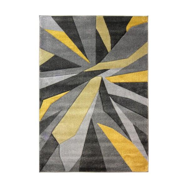 Žlto-sivý koberec Flair Rugs Shatter Ochre, 160×230cm