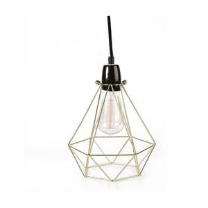 Světlo se stínítkem zlaté barvy a černým kabelem Filament Style Diamond #1