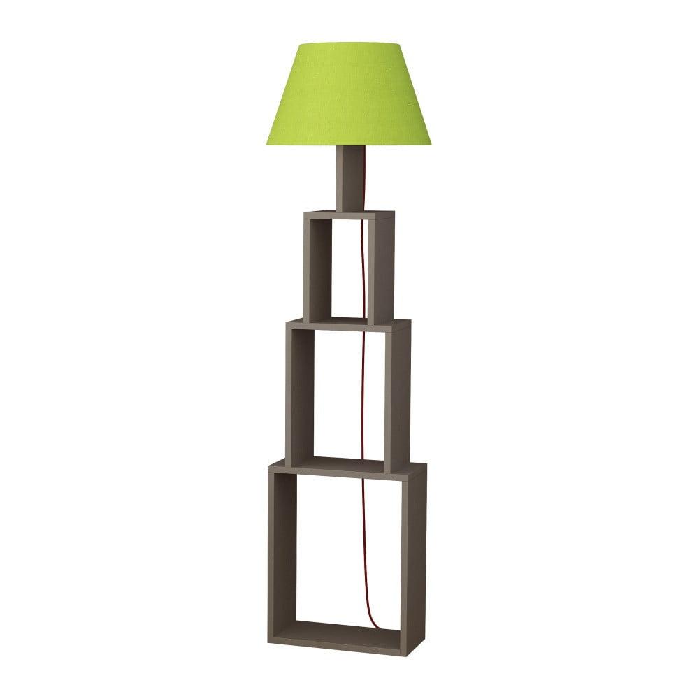 Volně stojící lampa se zeleným stínítkem Homitis Tower