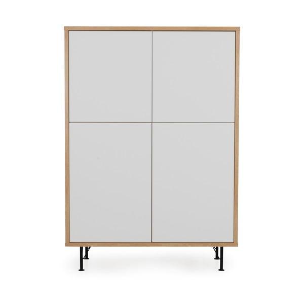 Biała szafka Tenzo Flow, 111x153 cm