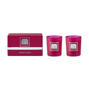 Set de două lumânări cu iz de coriandru și mandarine Villa Collection