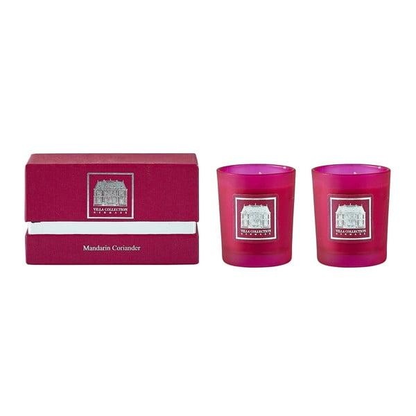 Sada 2 svíček s vůní koriandru a mandarínu Villa Collection