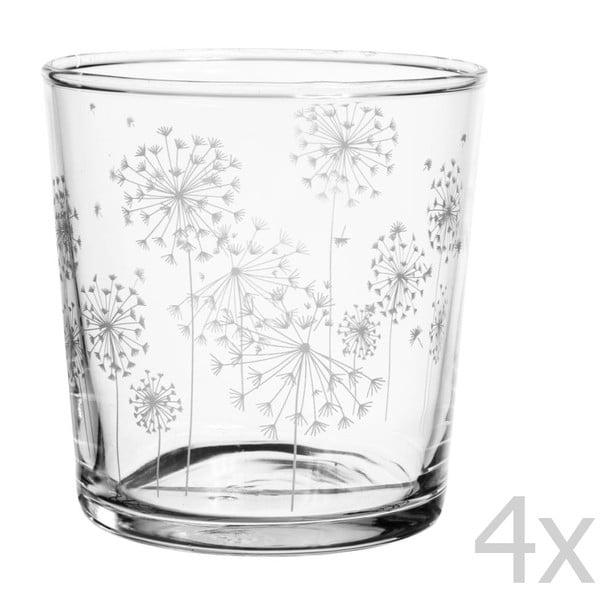 Sada 4 sklenic Côté Table Dandelion, 370ml