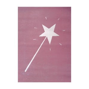 Růžový koberec Art For Kids Magic Wand, 120x170cm