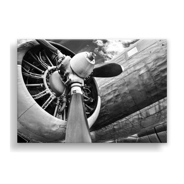 Canvas Silver Uno Plane kép, 85 x 113 cm - Styler