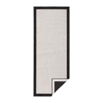 Covor reversibil Bougari Panama, 80 x 150 cm, negru – crem de la Bougari