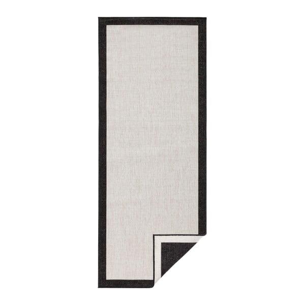Czarno-kremowy chodnik dwustronny odpowiedni na zewnątrz Bougari Bougari Panama, 80x150 cm