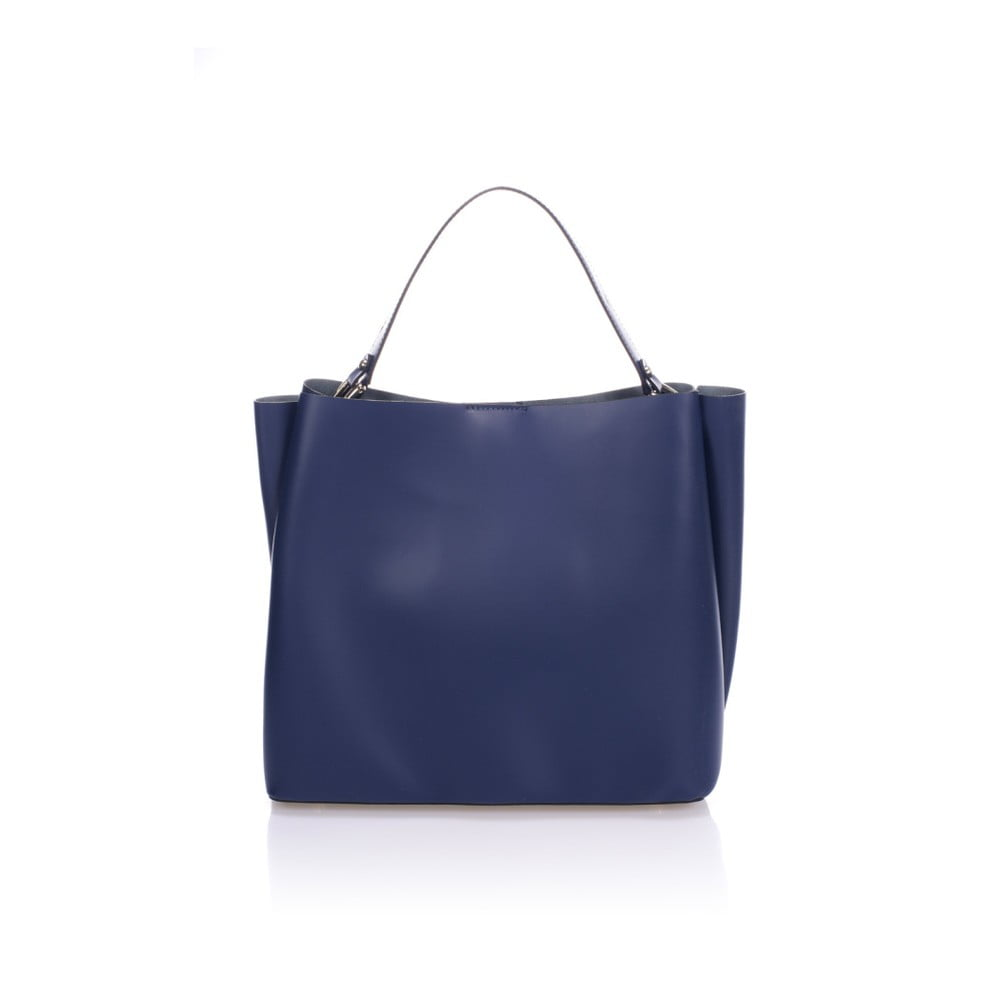 Tmavě modrá kožená kabelka Giulia Massari Dona