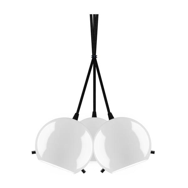 Černo-bílé lesklé závěsné světlo Sotto Luce MYOO Elementary 3BS
