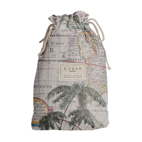 Worek na akcesoria podróżnicze z domieszką Inu Linen Couture Palm Trees, dł. 44 cm