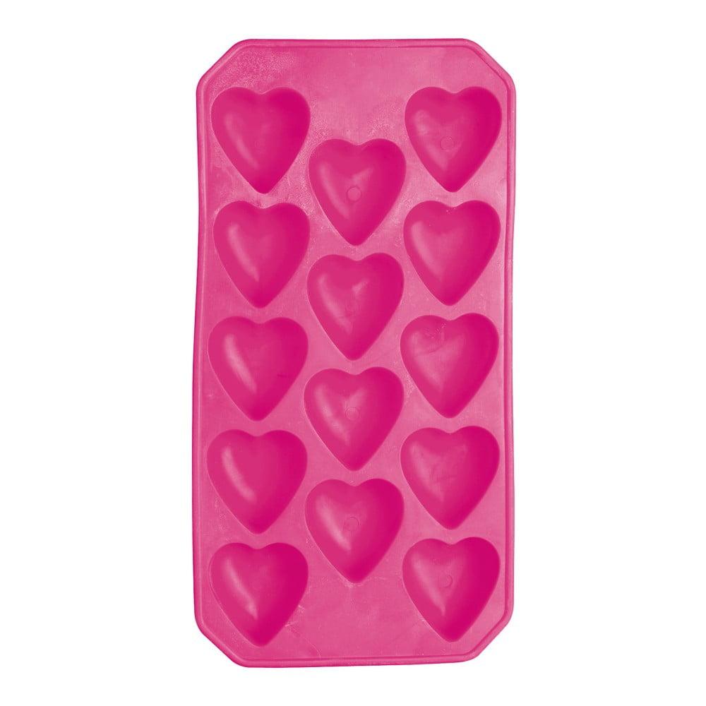 Růžová forma na led Kitchen Craft Ice Cube Tray