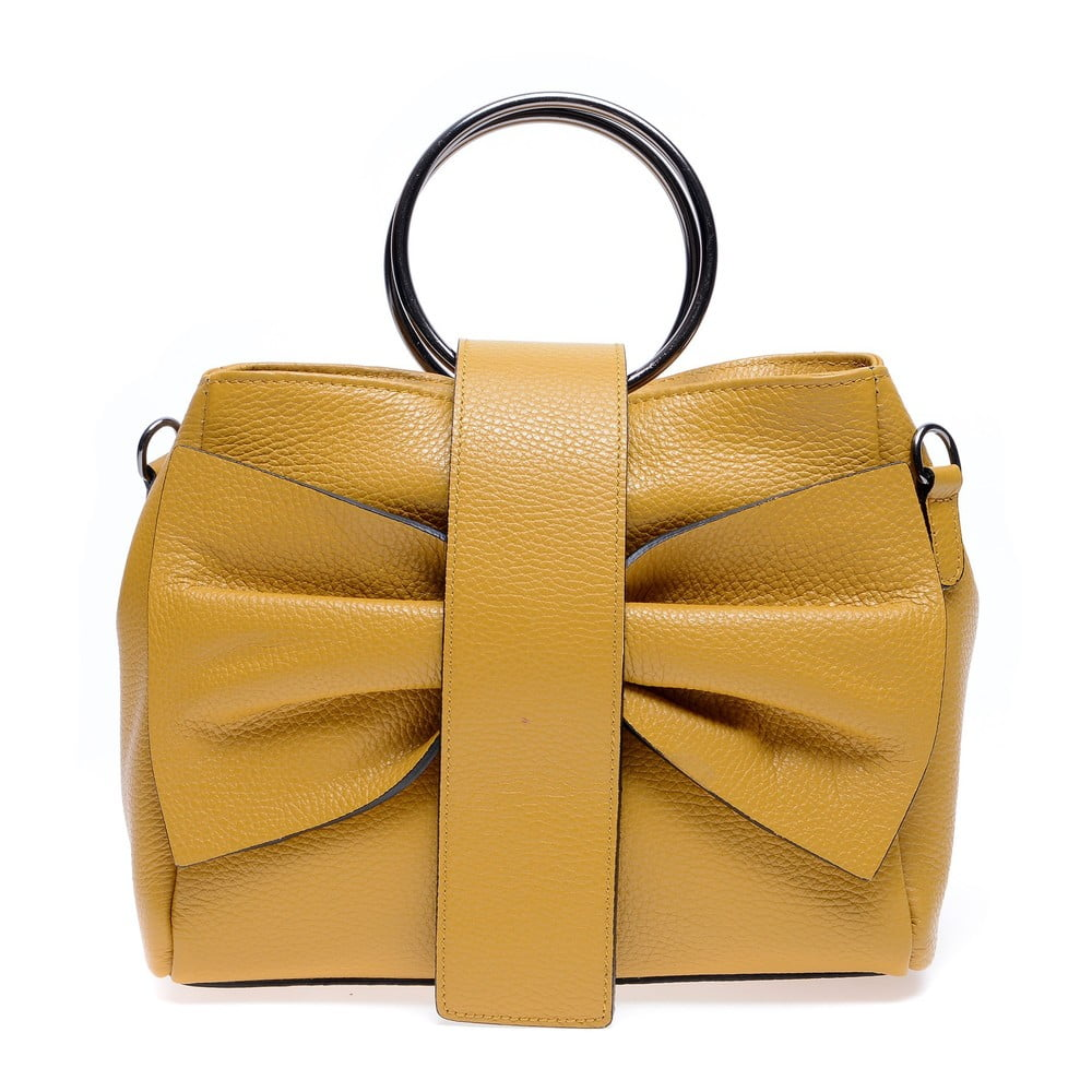 Žlutá kožená kabelka Roberta M Annabella