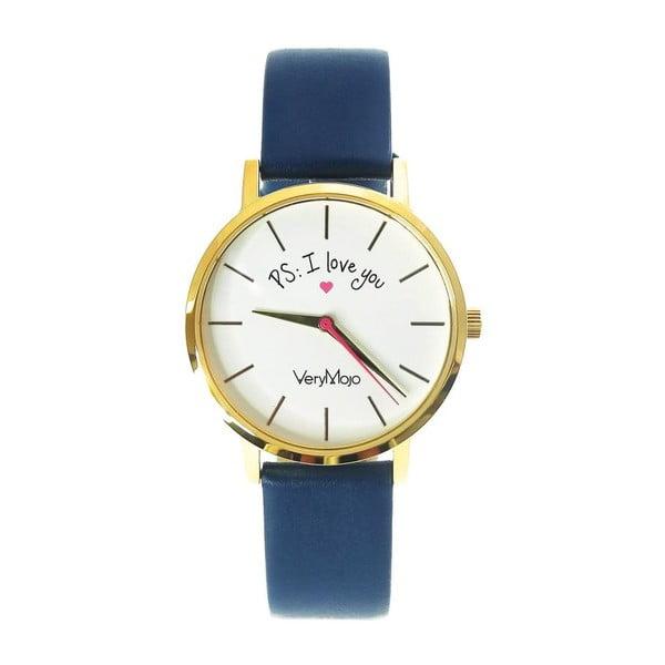 Modré hodinky VeryMojo PS I Love You
