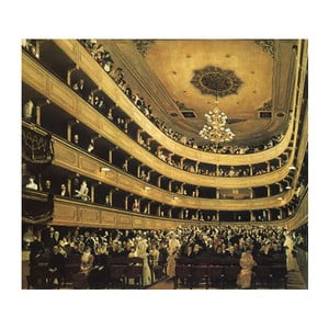 Reproducere tablou Gustav Klimt - Auditorium in the Old Burgtheater Vienna, 50 x 50 cm