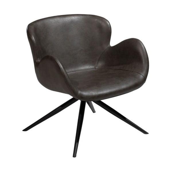Gaia Lounge szürke fotel öko bőrből - DAN–FORM Denmark