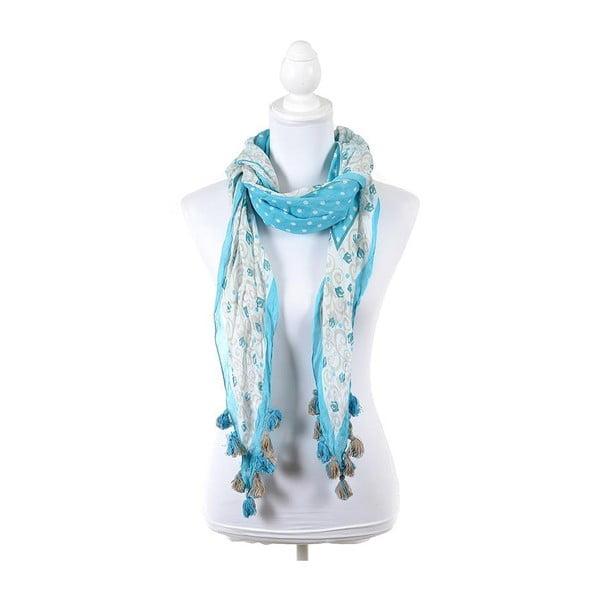 Šátek/pareo BLE Inart 65x200 cm, světle modrý