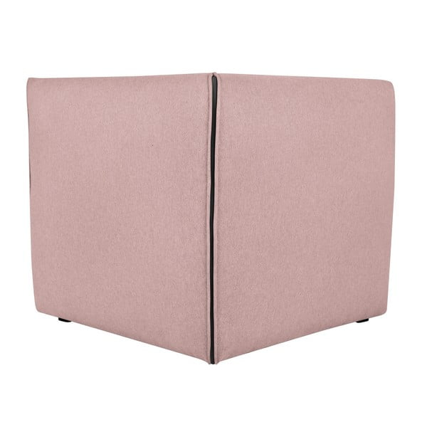Růžové modulové rohové křeslo Norrsken Ollo
