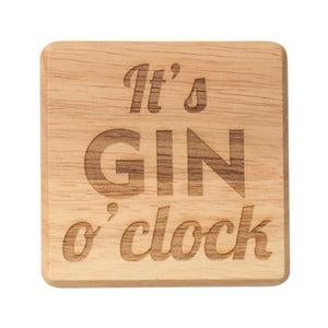 Podtácek z exotického dřeva T&G Woodware It's Gin O'Clock