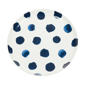 Farfurie din porțelan Santiago Pons Dotty, ⌀ 21 cm, alb - albastru