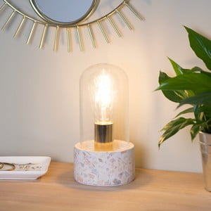 Stolní lampa s betonovým podstavcem Le Studio Terrazzo Globe Lamp