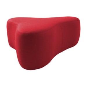 Červený puf Softline Chat Valencia Red, délka 90 cm