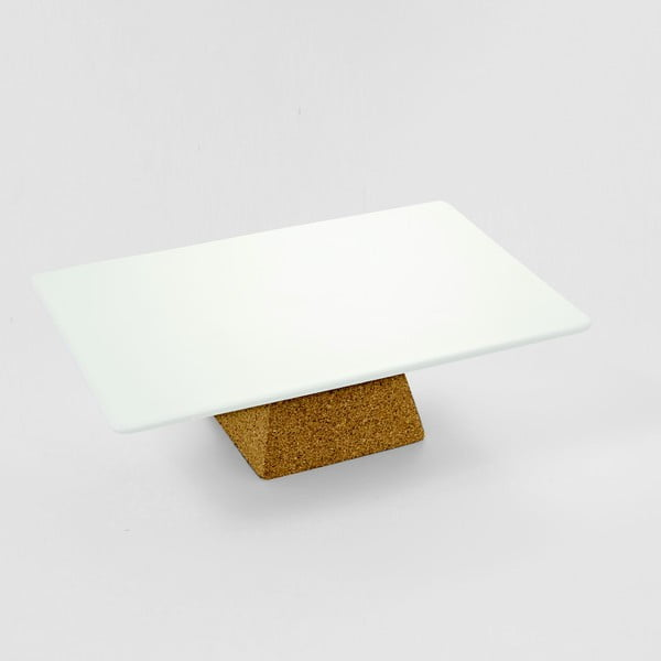 Servírovací podnos na nožce Cork, 29x19 cm