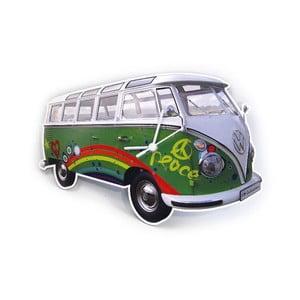 Nástěnné hodiny VW Camper, zelené