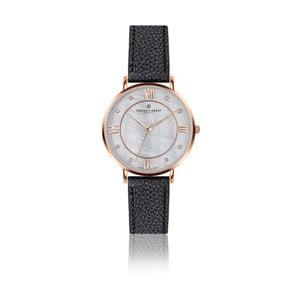 Dámské hodinky s černým páskem z pravé kůže Frederic Graff Rose Liskamm Lychee Black Leather