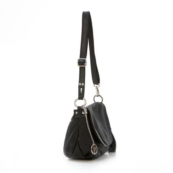 Kožená kabelka Paolo, černá