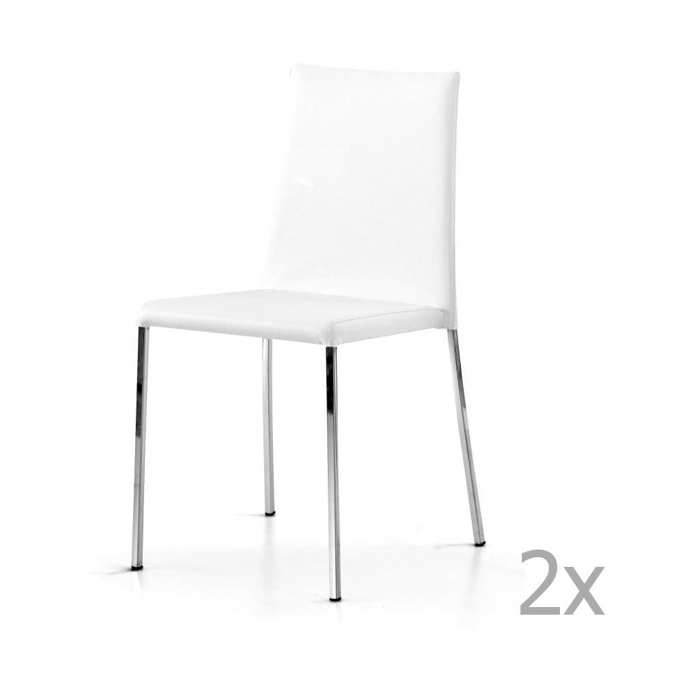 Sada 2 bílých jídelních židlí Castagnetti Pieces