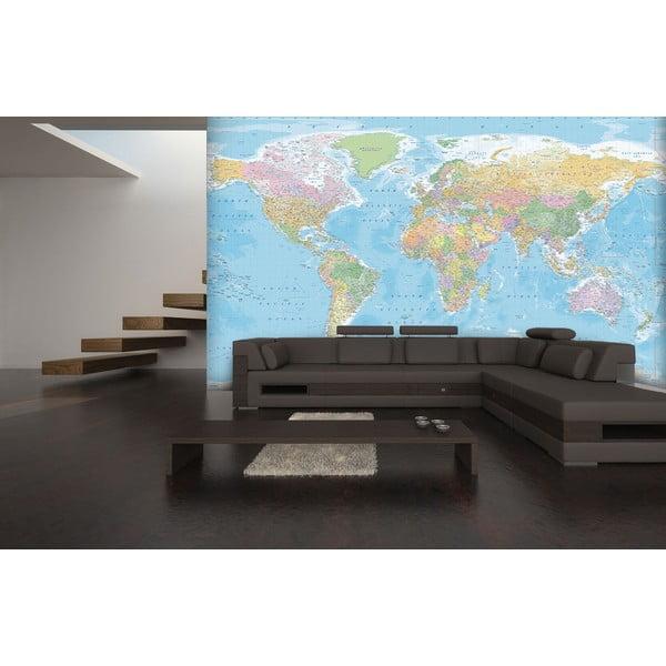 Velkoformátová tapeta Modrá mapa, 366x254cm