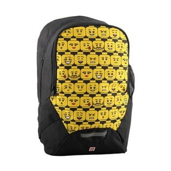 Rucsac pentru școală LEGO® Minifigures Heads, negru – galben de la LEGO®