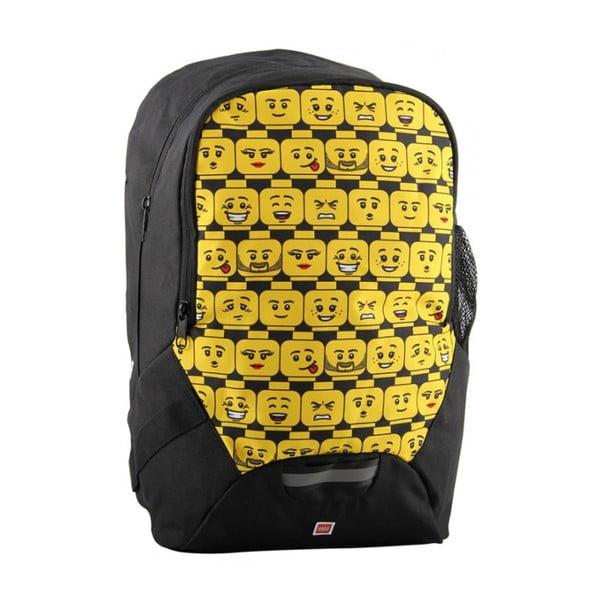 Czarno-żółto plecak szkolny LEGO® Minifigures Heads