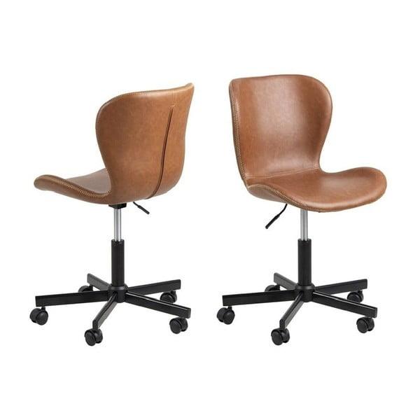 Jasnobrązowy fotel biurowy Actona Batilda