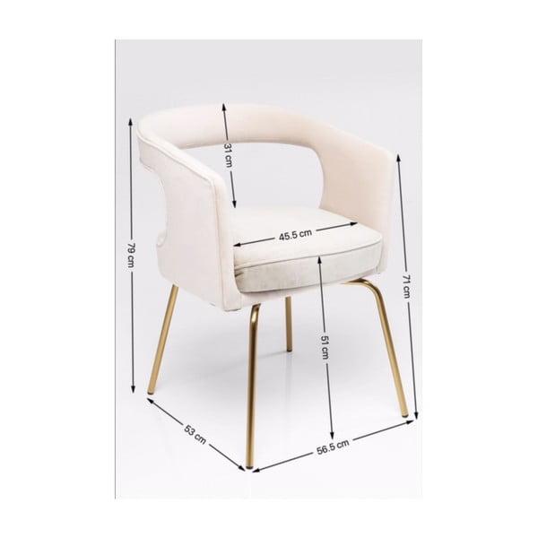 Šedá židle Kare Design Rimini