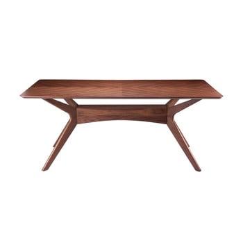 Masă dining cu aspect din lemn de nuc sømcasa Helga, 180 x 95 cm