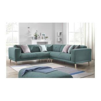 Canapea cu suport pentru picioare Bobochic Paris Luna, albastru de la Bobochic Paris