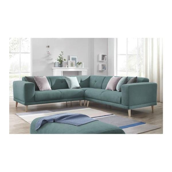 Canapea cu suport pentru picioare Bobochic Paris Luna, albastru