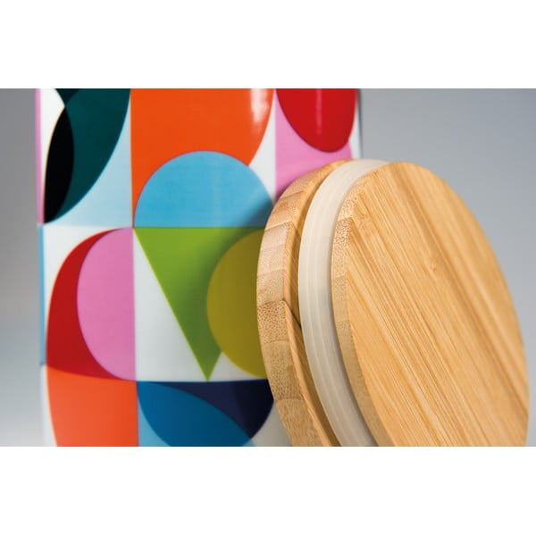 Porcelánová dóza s bambusovým víkem Remember Solena,1,25 l