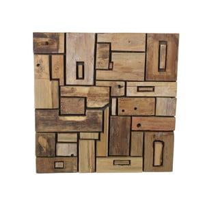 Nástěnná dekorace z teakového dřeva HSM Collection Deco